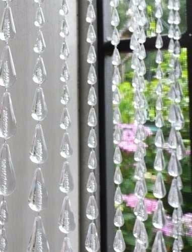 cortina de miçanga e contas chuva cristal incolor