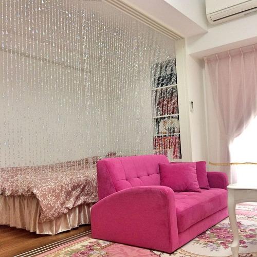 cortina de miçangas acrilica modelo cristal brilhante