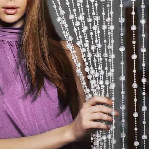 cortina de miçangas e contas acrilicas modelo discoteca