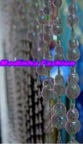 cortina de miçangas gomo acrílica transparente frete grátis