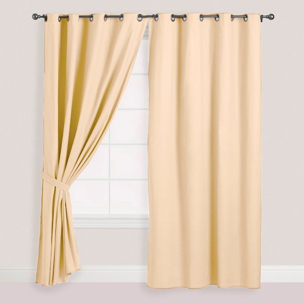 Cortina de pa o blackout 140x240cm color beige 1 pa o for Cortinas para salon beige