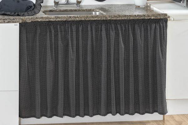 a9964b8ff Cortina De Pia Para Cozinha Tecido Poá Decoração Cozinha - R  36