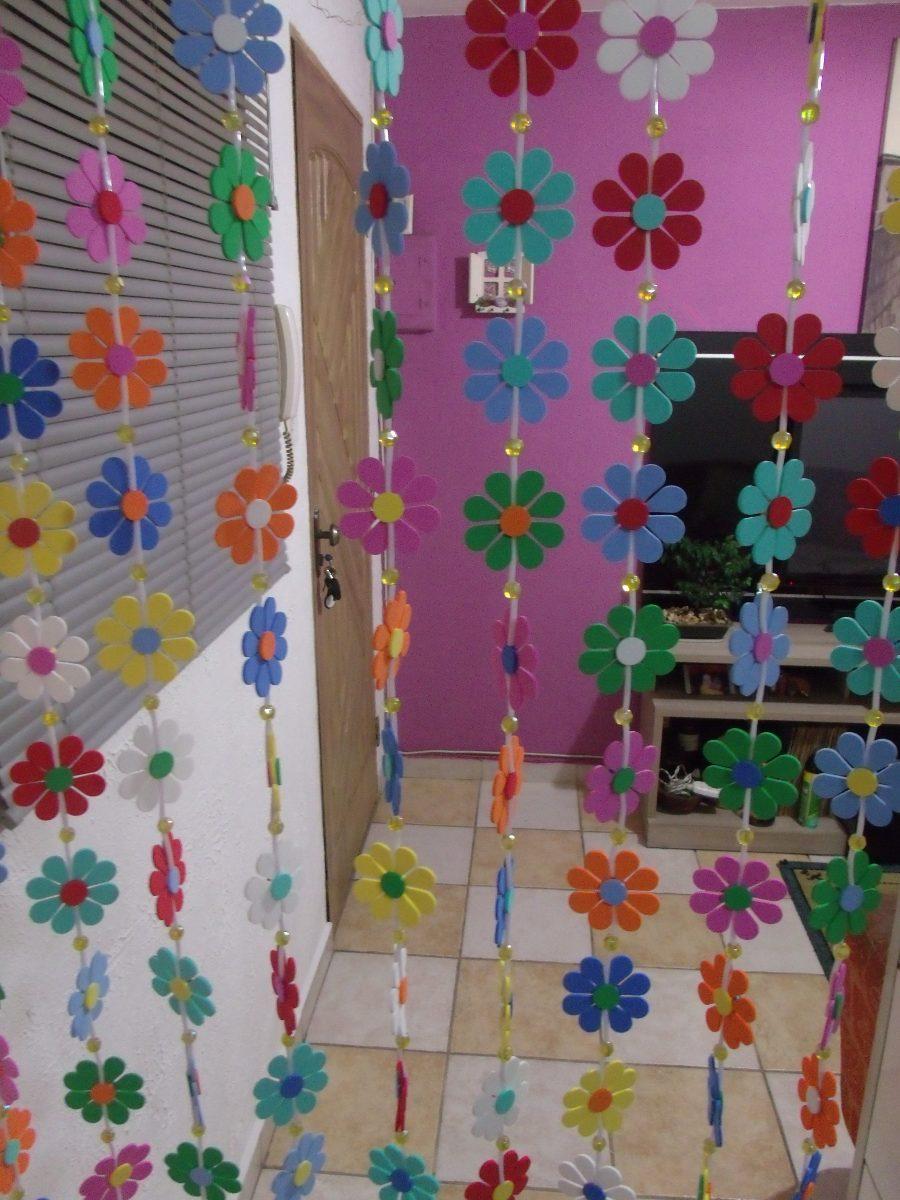 cortina para porta de quarto artesanal