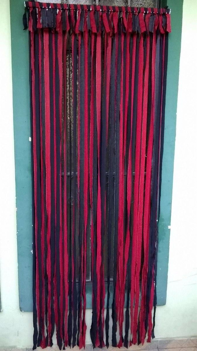 Cortina de porta em tiras de pano 2 10x83cm cores - Como hacer cortinas de tiras ...