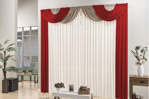 cortina de quarto e  sala 4 metros c/ pingente frete grátis