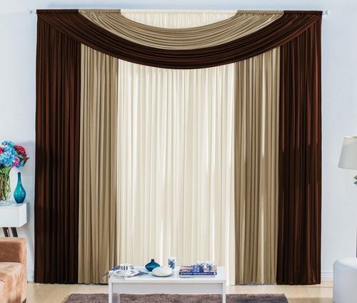 cortina de quarto ou sala 4,00m x 2,80m várias cores + frete