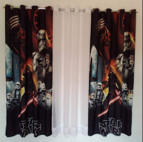 cortina de tela con ojillos para sala