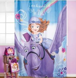 cortina de tela la princesita sofía