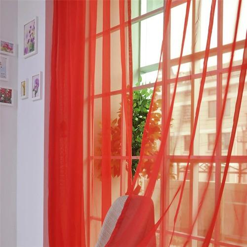 cortina de tule cor pura transparente para varão
