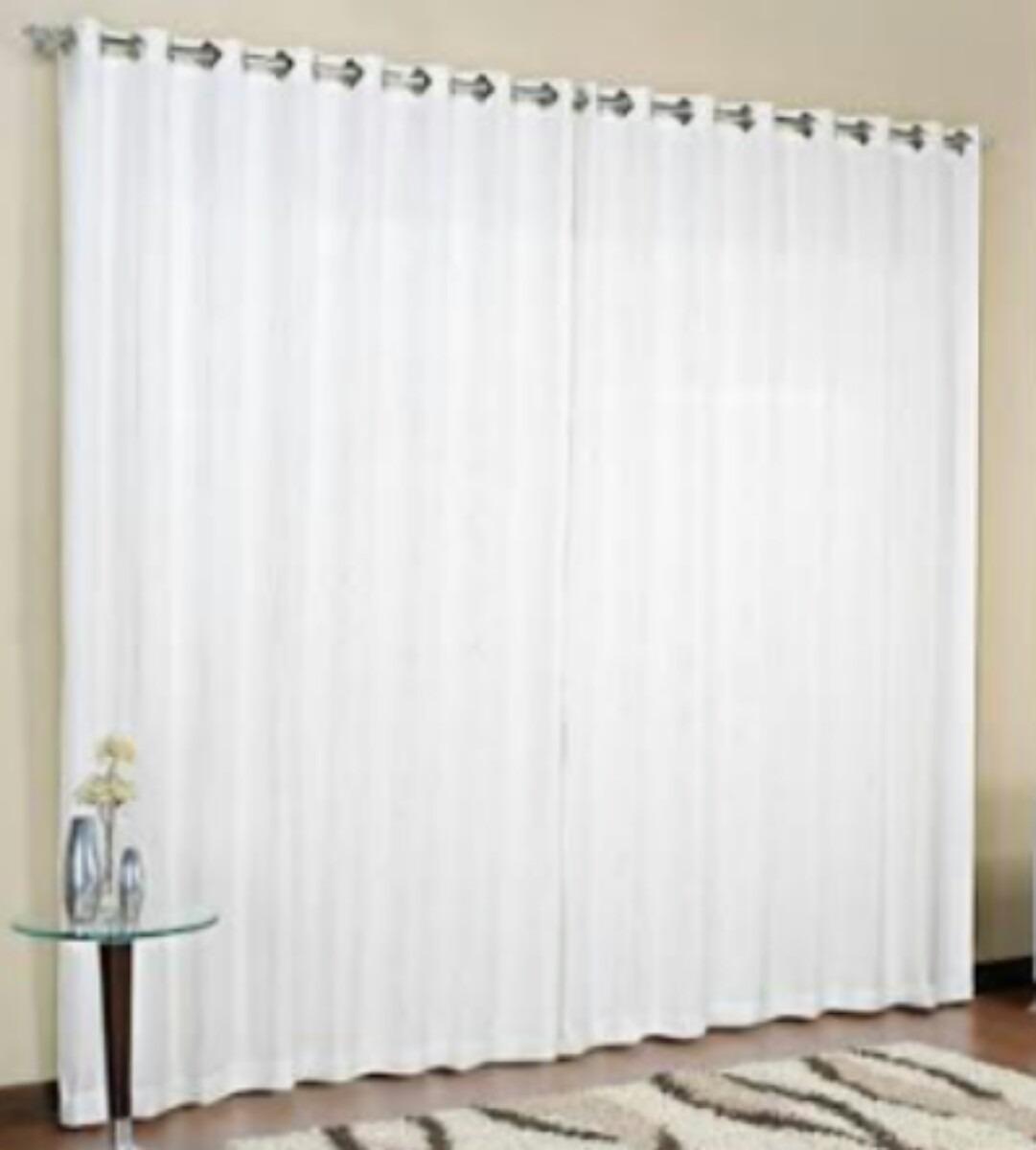 Cortina de var o sala branca tamanho 3 00 x 2 50 mais - Cortinas por metros ...