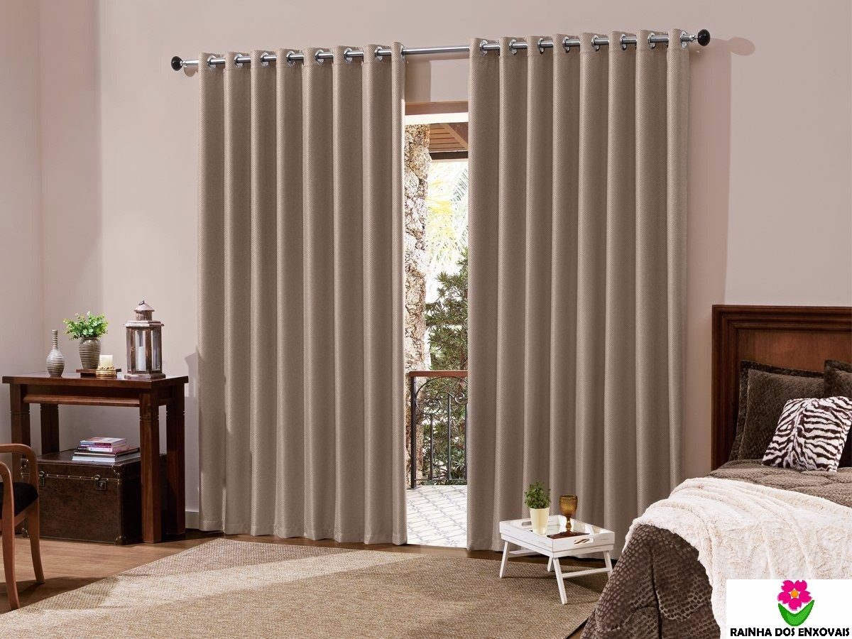 cortinas para quarto persiana marron