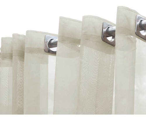 cortina de voil voal 5.00x2.80 para varão sala e quarto