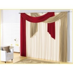 cortina débora p/sala e quarto 3x2,80 varão duplo