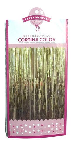 cortina deco metalizada 50 cm x 2 mts - tiras 6 mm #416