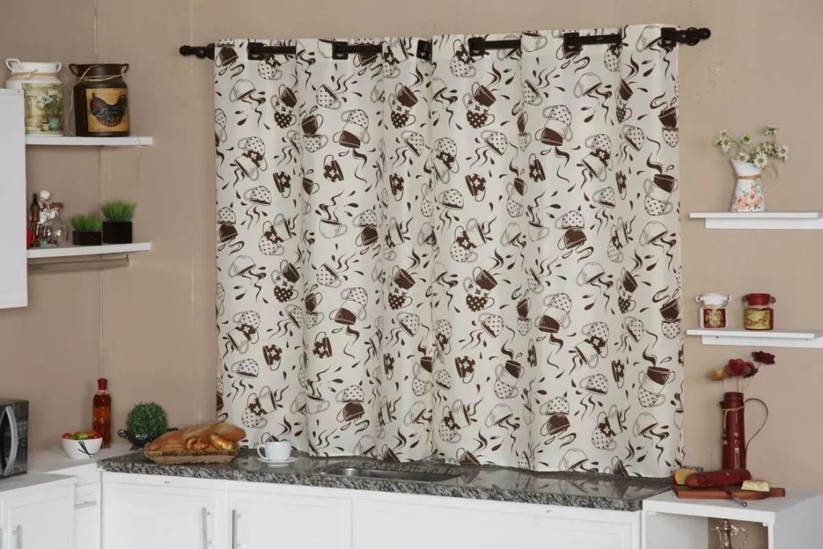 Cortina Decorativa Para Cozinha Com Ilhos I S Promo O R 18 00