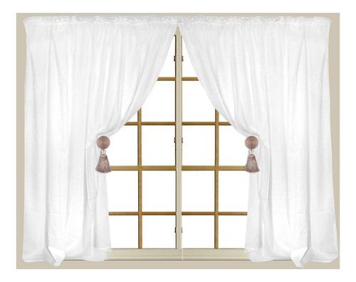 cortina doble ancho p/riel 2x 2.30 x 2.20alt.