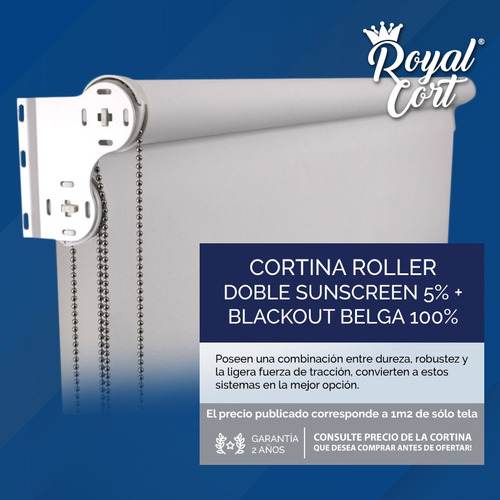 cortina doble roller black out 100%osc belga + sun screen 5%