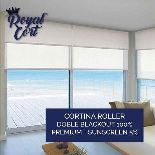cortina doble roller blackout 100% premium sunscreen 5% top