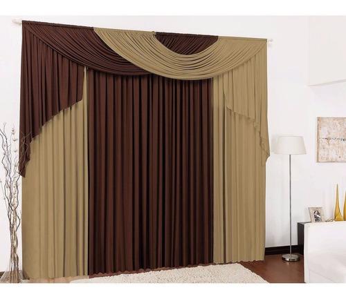 cortina elegance malha varão duplo 4 metros sala quarto