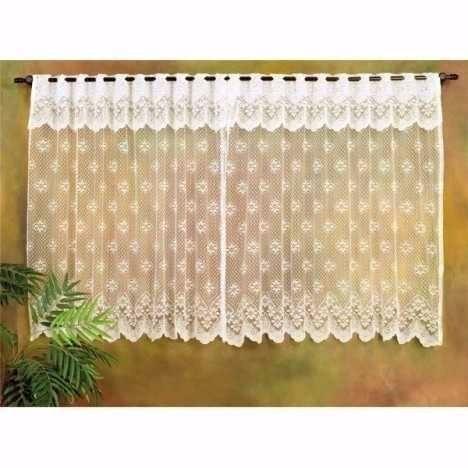 cortina em renda - para cozinha - 2,00x1,20 - cor palha