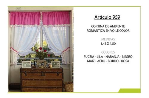 cortina fiorella ambiente voile 959 cinta fruncidora color