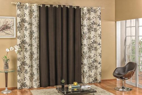 cortina floratta quarto ou sala 2.00 x 1.70 estampada
