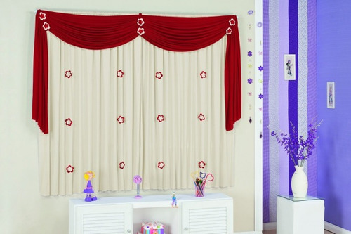 cortina florzinha 2m e 1 brinde surpresa