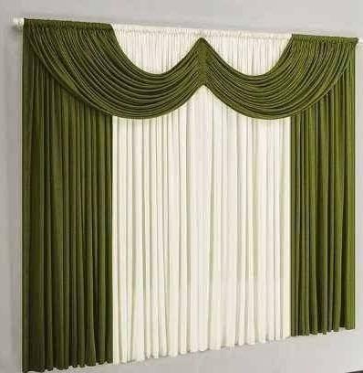 cortina ibiza para varão simples 2 metros verde