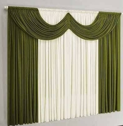 cortina ibiza para varão simples 3 metros verde