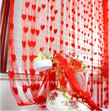 cortina importada já no brasil forma de coração