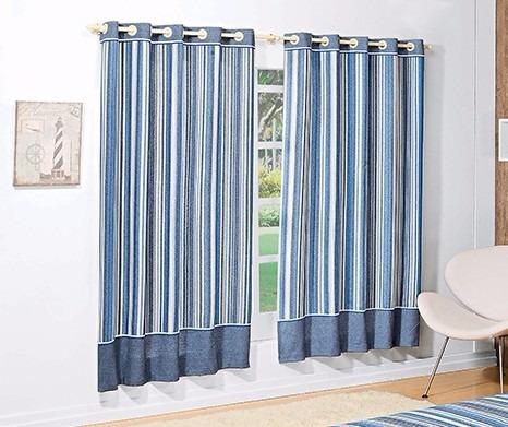 Cortina infantil azul para menino 2 00m tecido listrado - Modelos de cortinas infantiles ...
