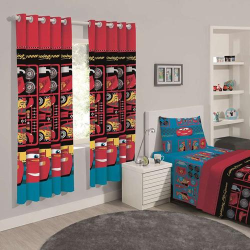cortina infantil blackout carros tools 2,80 x 1,80 santista