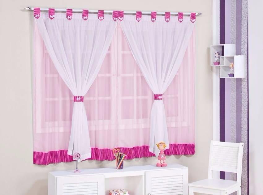 Cortina infantil manoela rosa e pink p menina 2 00mx1 70m - Cortinas habitacion infantil ...