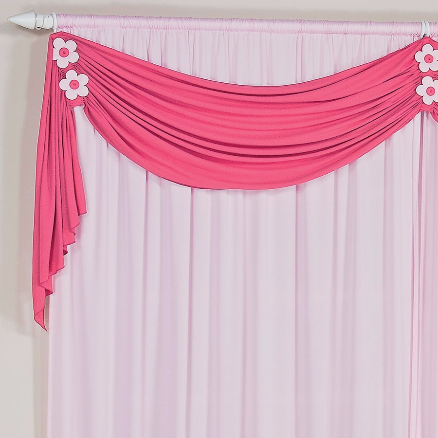 Cortina infantil margarida rosa e pink p quarto de menina for Tipos de ganchos para cortinas