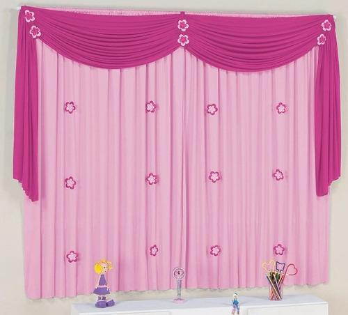 cortina infantil quarto de bebê menina lilás roxo rosa pink