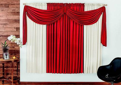 cortina iza p/ sala quarto escritório 4 metros