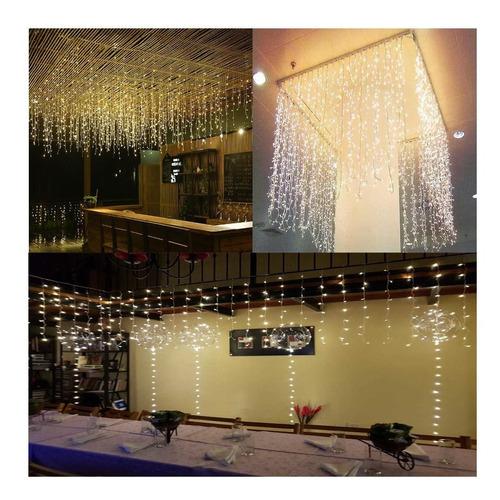 cortina led 120 luces 10 tiras 2x1.5 mt 220v interconectable