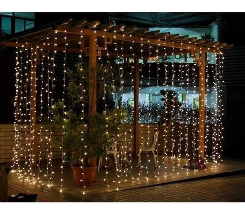 cortina led 164 luces 11 tiras 2x2 mts 220v interconectable