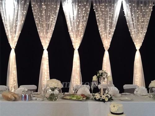 cortina led 3x3 blanco calido vintage interconectable bodas