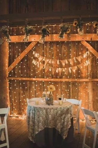 cortina led blanco calido 3x3 interconectable vintage bodas