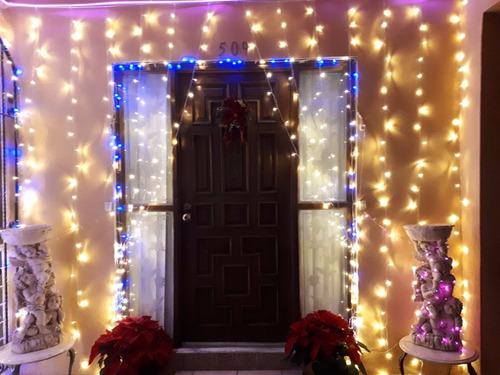 cortina led blanco calido vintage 3x3 bodas navidad fiesta