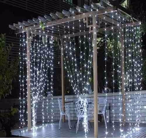 cortina led com 500 leds fixos 2,8m x 2,5m 127v festas