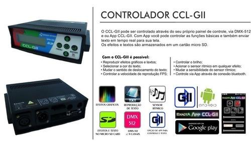 cortina led gráfica 4x2.3 p165 - controle via app