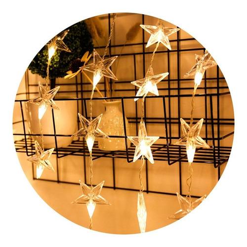 cortina led luces estrellas tira 1.80 mts 220v interconectab