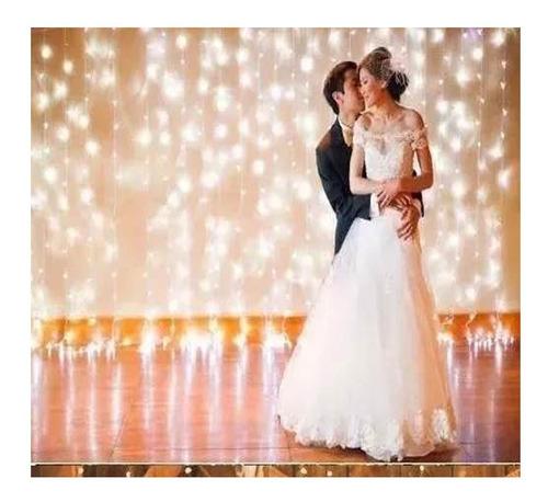 cortina led vintage 3x3 bodas navidad decoracion fiestas blanco frio blanco calido casa y jardin
