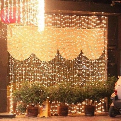 cortina led vintage 6x3 boda navidad decoracion blanco calid