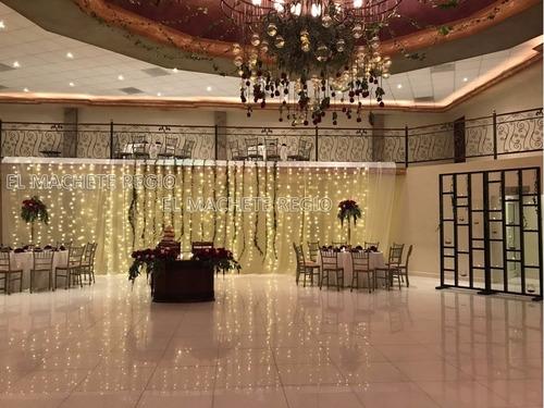 cortina led vintage blanco calido 3x3 bodas navidad fiesta
