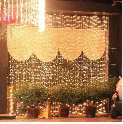 cortina led vintage blanco calido 3x3 interconectables bodas