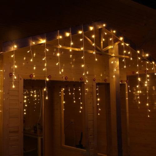 cortina lluvia led blancas calidas 5 mts interconectables