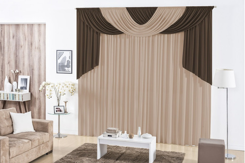 cortina londres quarto sala 3,00x2,80 varias cores p varao